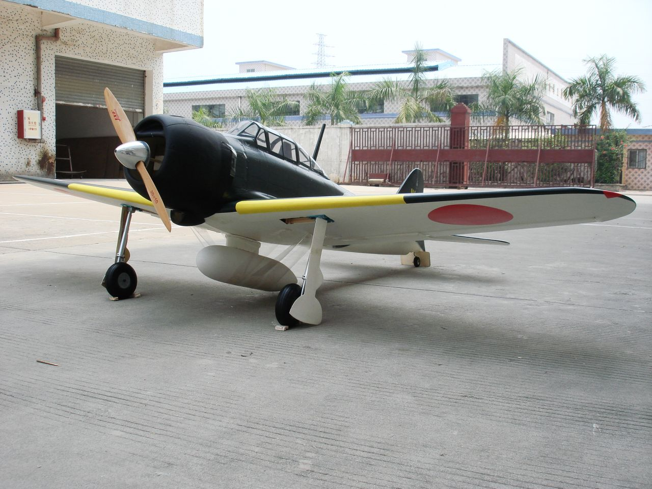 CY Model Zero Fighter 40-90cc Benzinli ARF Uçak (Havalı Retrackler Dahil)