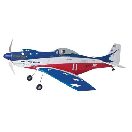 The World Models P-51 Mustang Miss America EP ARF Uçak (Outrunner Brushless Motor Dahil)
