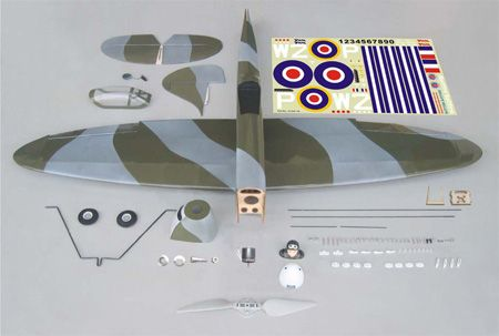 The World Models Spitfire EP ARF Uçak (Outrunner Brushless Motor Dahil)