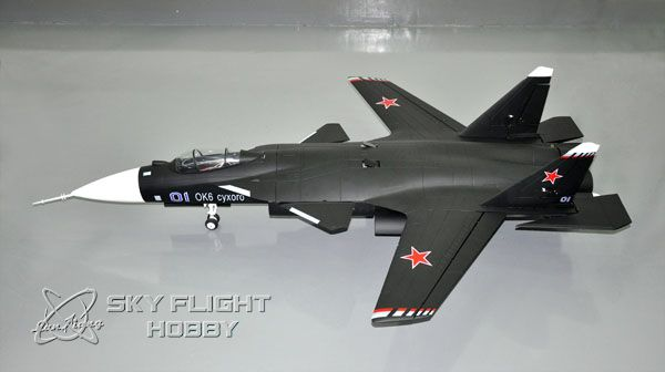 LXHM SU-47 Berkut RTF 2x70mm Fan Motorlu Uçak-Retrackli