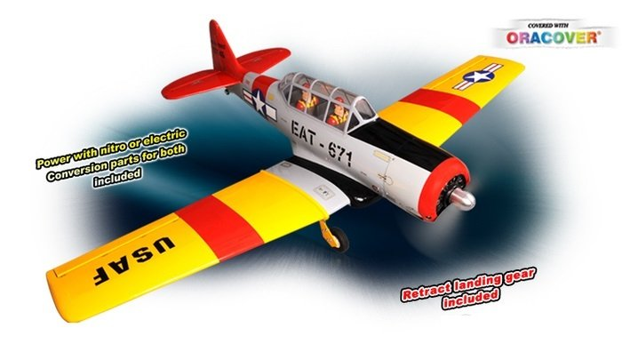 Phoenix AT-6 Texan .61 1750mm ARF Uçak-Retract ve Alu. Spinner Dahil