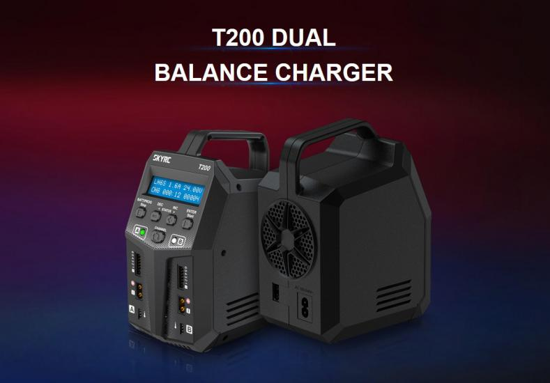 SkyRC T200 Dual Balance Charger 2x100w AC/DC - 12 A Charge
