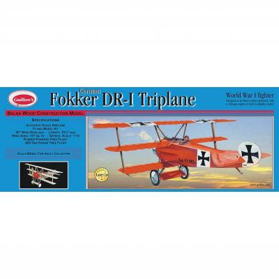 204LC 1/16 FOKKER TRİPLANE MODEL KİT - LASER CUT