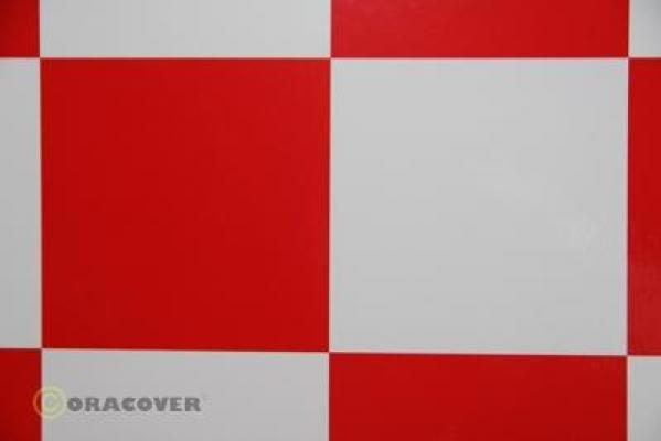 ORACOVER FUN 6 width: 60 cm length: 2 m white - red