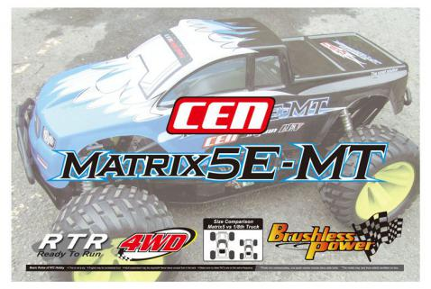 CEN Matrix-5E MT 1/5 Brushless Monster Truck RTR w/2.4Ghz Kumanda & Li-Po Dahil