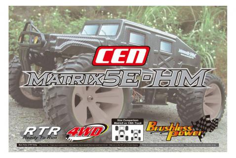 CEN Matrix5E-HM 1/5 Brushless Monster Truck RTR w/2.4Ghz Kumanda & Li-Po Dahil