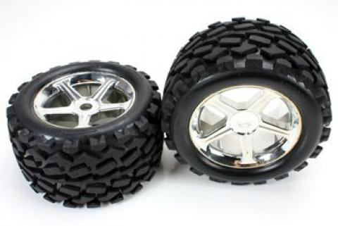 Team Magic E6 Mounted Tire (Pair)