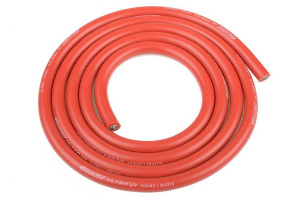 10Awg (5.5mm) Red Super Soft Silicone Wire (1Mt Black)