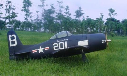 CY Model F8F Bearcat 40-90cc Benzinli ARF Uçak-Retrackler Dahil
