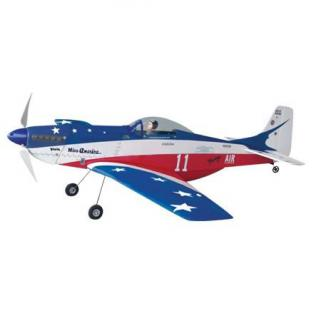 The World Models P-51 Mustang Miss America EP ARF Brushless motor included