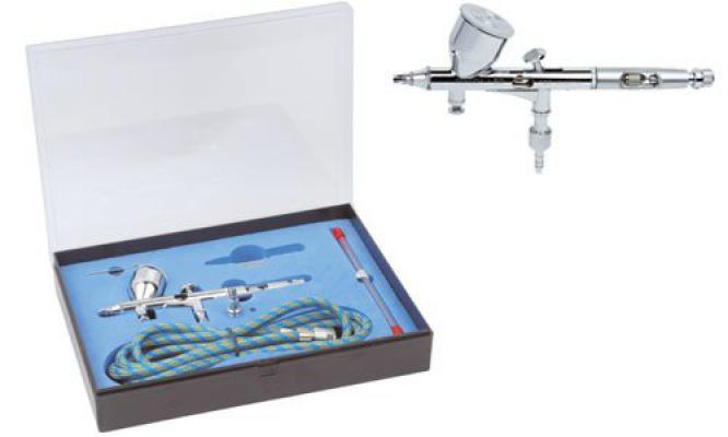 Double Action Airbrush Set 0,25-0,3mm Noz.Ned.Tk.