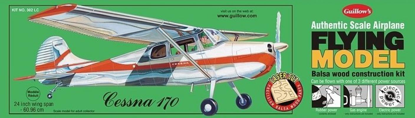302LC 1/18 CESSNA 170 MODEL KİT - LASER CUT