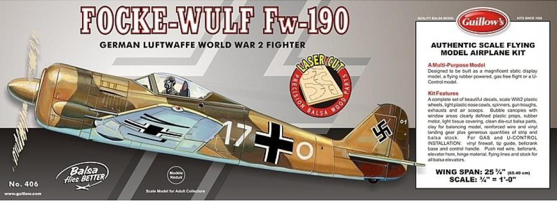 406LC 1/16 FOCKE-WULF FW-190 MODEL KİT - LASER CUT