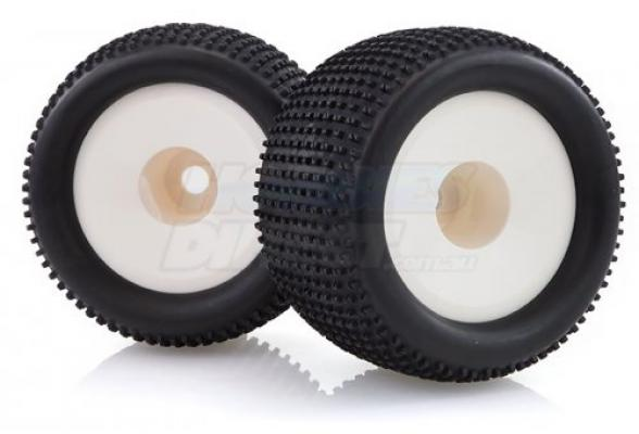 86722 | HSP 3.3'' Off-Road Tyres on White Rims - Wheels 2Pcs