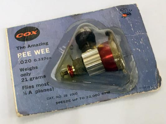 NEW Vintage Cox The Amazing Pee Wee .020 Engine for most 1/2 A Planes SEALED