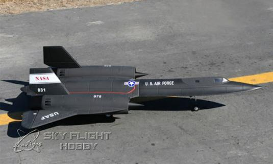 LXHM SR-71 Blackbird RTF 2x64mm Fan Motorlu Uçak-Retrackli