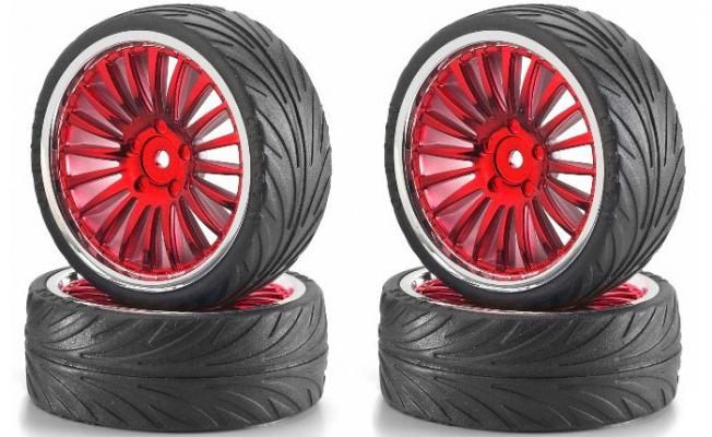 Big Wheel On-Road Red /Krom (4 ad.)