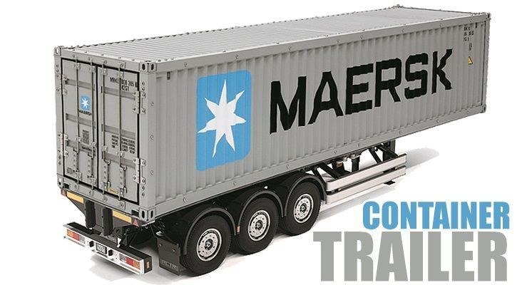 Tamiya 1/14 Maersk 40ft Container & Semi-Trailer (Demonte)